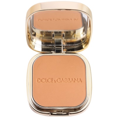 Dolce & Gabbana The Foundation Perfect Matte Powder Foundation matirajoča pudrasta podlaga z ogledalom in aplikatorjem