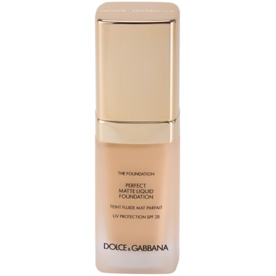 Dolce & Gabbana The Foundation Perfect Matte Liquid Foundation base para aspeto mate