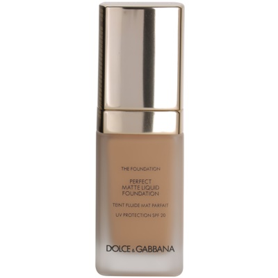 Dolce & Gabbana The Foundation Perfect Matte Liquid Foundation puder za mat izgled
