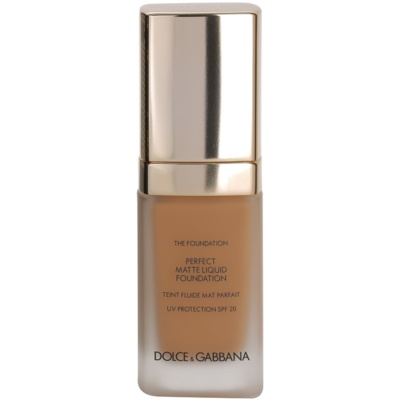 Dolce & Gabbana The Foundation Perfect Matte Liquid Foundation μεικ απ για ματ εμφάνιση