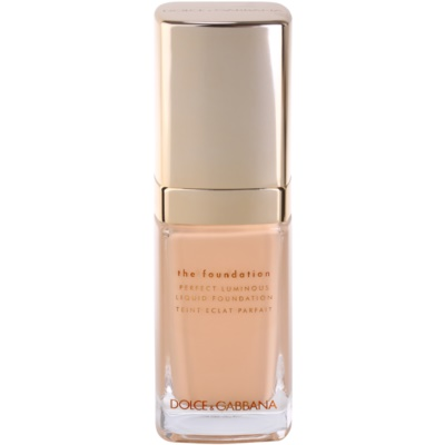 Dolce & Gabbana The Foundation Perfect Luminous Liquid Foundation könnyű bársonyos make-up az élénk bőrért