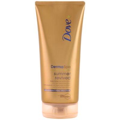 Dove DermaSpa Summer Revived leite com cor com efeito de um bronzeado ligeiro