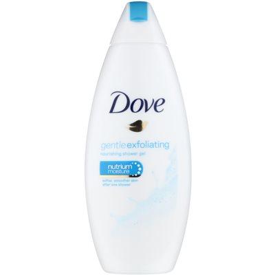 Dove Gentle Exfoliating θρεπτικό τζελ για ντους με αποτέλεσμα απολέπισης