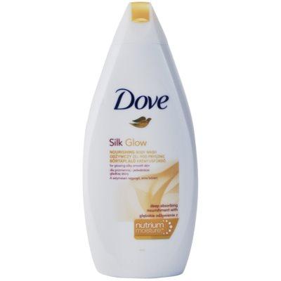 Dove Silk Glow gel de douche nourrissant pour une peau douce et lisse