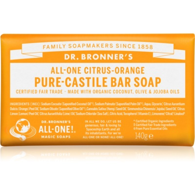 Dr. Bronner's Citrus & Orange Bar Soap
