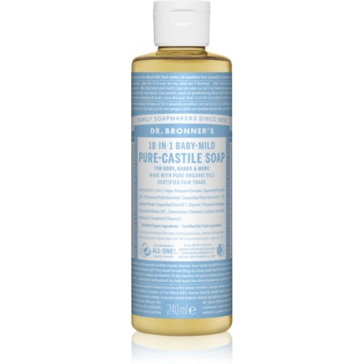 Dr. Bronner's Baby-Mild Universal Liquid Soap Fragrance-Free