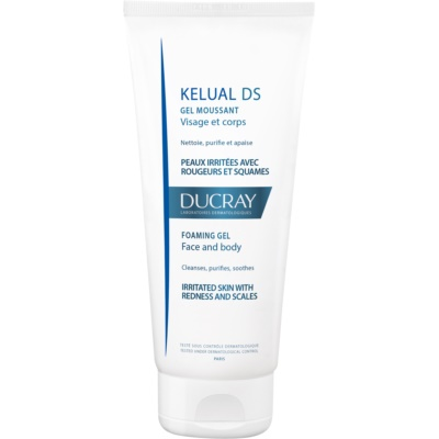 Ducray Kelual DS Skummande rengöringsgel för irriterad hud för ansikte och kropp