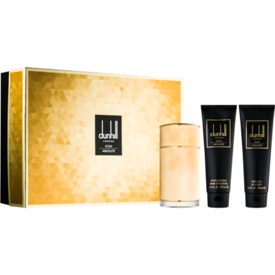 Dunhill Icon Absolute confezione regalo II. eau de parfum 100 ml + gel doccia 90 ml + balsamo post-rasatura 90 ml + borsetta