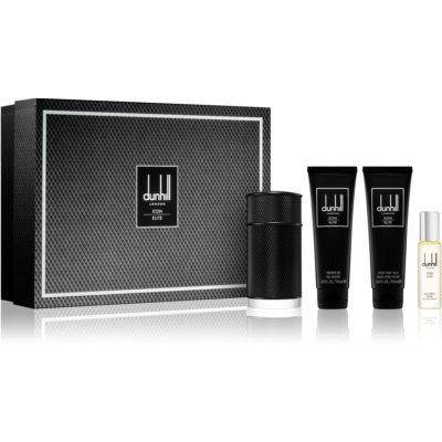 Dunhill Icon Elite zestaw upominkowy II.  woda perfumowana 100 ml + woda perfumowana 30 ml + żel pod prysznic 90 ml + balsam po goleniu 90 ml