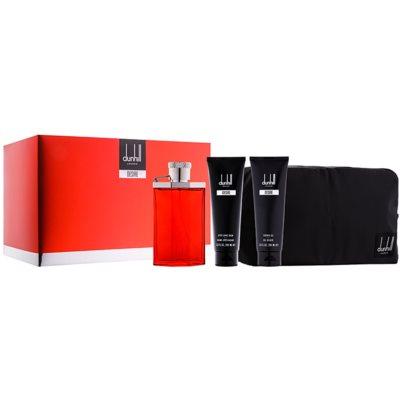 Dunhill Desire Red darčeková sada VII.  toaletná voda 100 ml + sprchový gel 90 ml + balzam po holení 90 ml + kozmetická taška