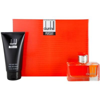 Dunhill Pursuit set cadou I.  Apa de Toaleta 75 ml + After Shave Balsam 150 ml