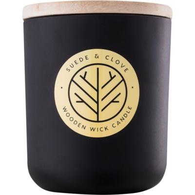 DW Home Black Suede & Clove vela perfumado  com pavio de madeira