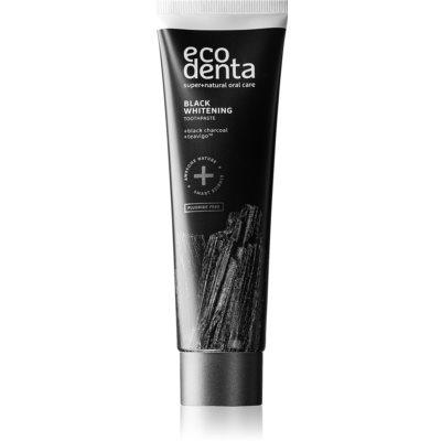 Ecodenta Expert Black Whitening dentifrice blanchissant au charbon noir sans fluorure