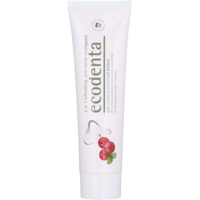 Refreshing Toothpaste against Plaque 2 In 1