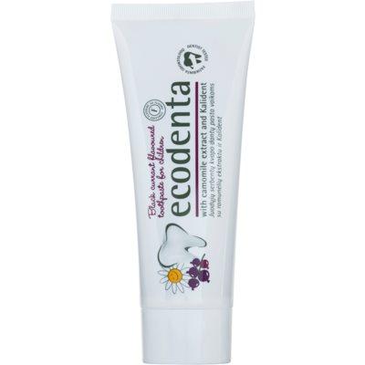 pasta de dientes para niños con aroma de grosella negra y extracto de manzanilla