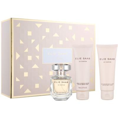 Elie Saab Le Parfum ajándékszett XXIII.   Eau de Parfum 50 ml + testápoló tej 75 ml + tusfürdő krém 75 ml