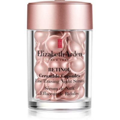Elizabeth Arden Retinol Ceramide Capsules Line Erasing Night Serum sérum de nuit visage en capsules