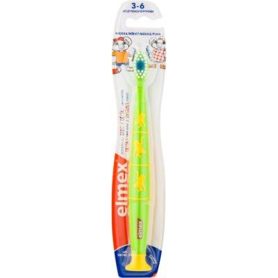 Elmex Kids 3-6 Years četkica za zube za djecu s vakuumskim držačem