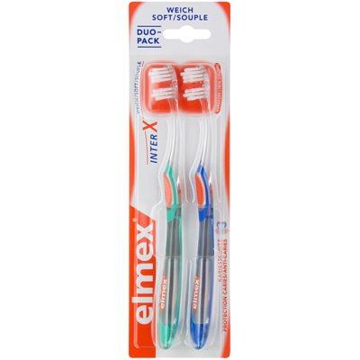escova de dentes com cabeça curta e suave 2 pçs