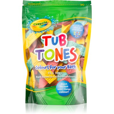 EP Line Crayola Tub Tones Colourful Fizzy Bath Tablets