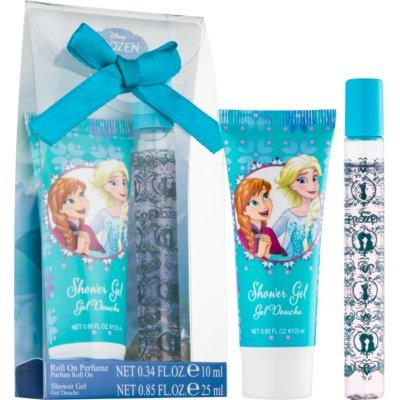 EP Line Frozen dárková sada  toaletní voda roll-on 10 ml + sprchový gel 25 ml