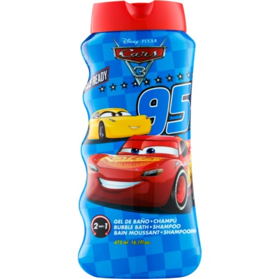 EP Line Cars 3 Bath Foam and Shampoo 2 in 1 for Kids