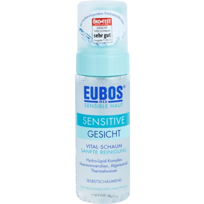 tisztító hab az érzékeny bőr megnyugtatásához és erősítéséhez