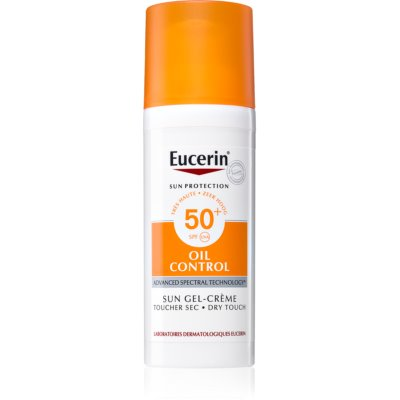 Eucerin Sun Oil Control védő géles krém az arcra SPF 50+