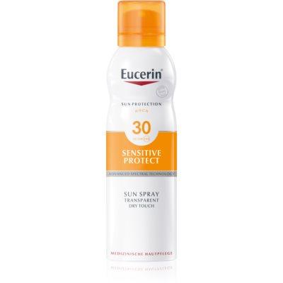 Eucerin Sun Sensitive Protect prozirna magla za sunčanje SPF 30