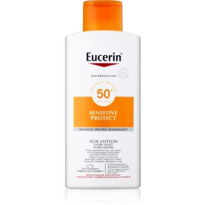Eucerin Sun Sensitive Protect lait solaire extra-léger SPF 50+