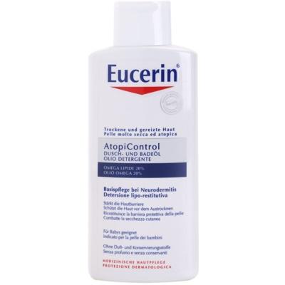 sprchový a kúpeľový olej pre suchú pokožku so sklonom k svrbeniu