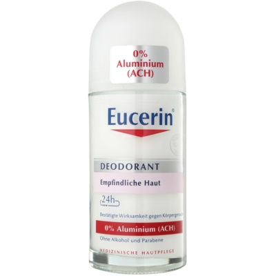 Eucerin Deo Roll-On Deodorant Without Aluminum Content for Sensitive Skin