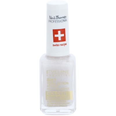 Nail Conditioner with Golden Particles 8 In 1