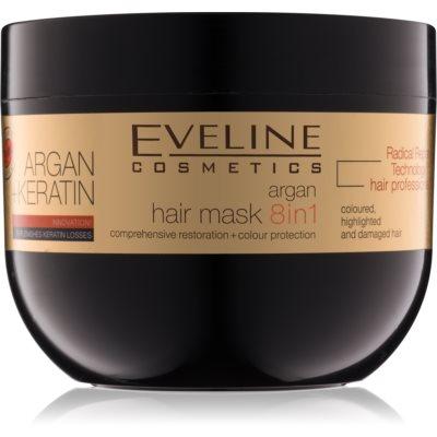 máscara para cabelo com queratina e óleo de argan
