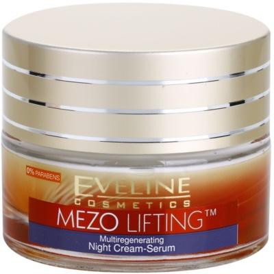 Ser-crema de noapte cu efect de multiregenerare