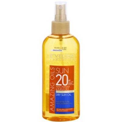 napozó olaj spray -ben SPF 20