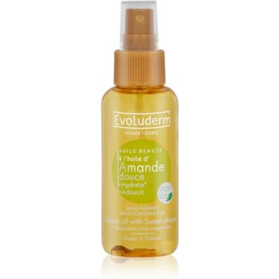 ulei de frumusete pentru piele și păr cu extract de migdale