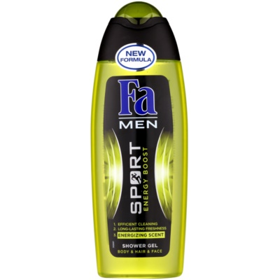 Fa Men Sport Energy Boost gel de douche visage, corps et cheveux