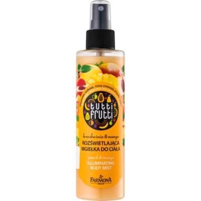 Farmona Tutti Frutti Peach & Mango spray corpo brillante effetto lisciante e nutriente