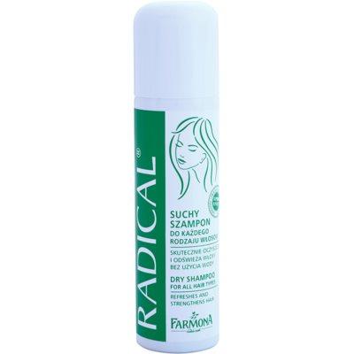 suchý šampon pro posílení vlasů