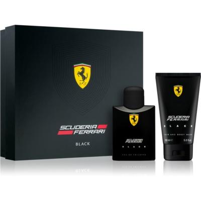 Ferrari Scuderia Ferrari Black подарунковий набір IV  Туалетна вода 75 ml + Гель для душу 150 ml
