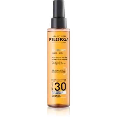 olio protettivo attivatore dell'abbronzatura SPF30