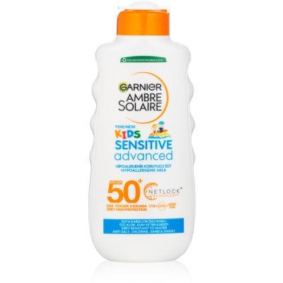 Garnier Ambre Solaire Resisto Kids napvédő tej gyermekeknek SPF50+