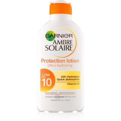 lait solaire SPF 10