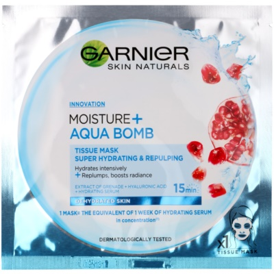 Garnier Skin Naturals Moisture+Aqua Bomb Super Hydraterende Opvullende Textiel Masker