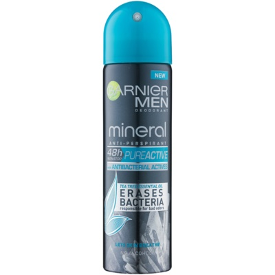Garnier Men Mineral Pure Active Antibacterial Antiperspirant In Spray