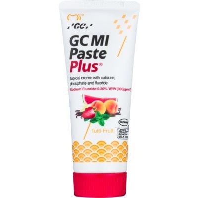 GC MI Paste Plus Tutti-Frutti crema rimineralizzante protettiva per denti sensibili al fluoro