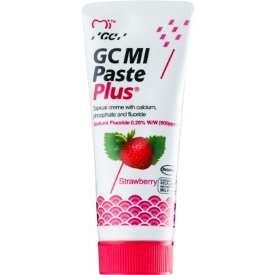 GC MI Paste Plus Strawberry crema rimineralizzante protettiva per denti sensibili al fluoro