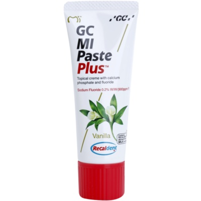 GC MI Paste Plus Vanilla Protective Remineralising Cream for Sensitive Teeth With Fluoride