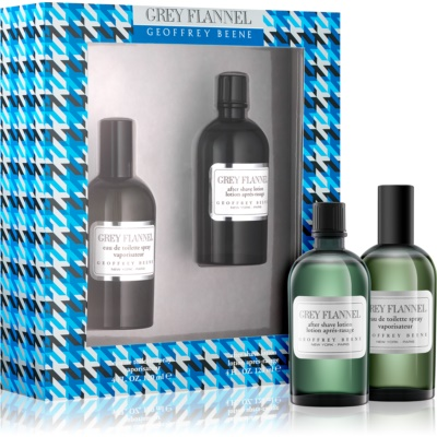 Geoffrey Beene Grey Flannel coffret I.  Eau de Toilette 120 ml + loção after shave 120 ml
